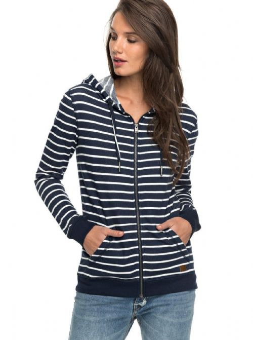 ROXY WOMENS HOODIE.NEW TRIPPIN STRIPE ZIPPED HOODED JACKET HOODY TOP 7W 3597 XBW